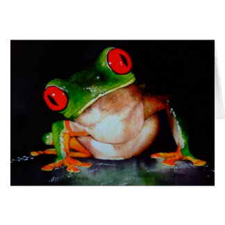 Carte aux yeux rouges de grenouille d'arbre