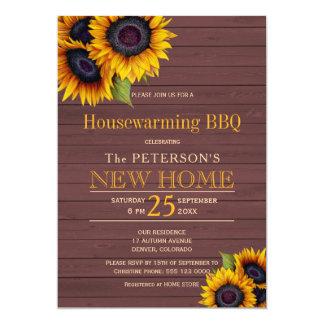 Carte BBQ en bois de pendaison de crémaillère d'automne