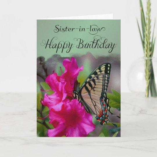 Carte Belle Soeur Joyeux Anniversaire Papillon Zazzle Ca