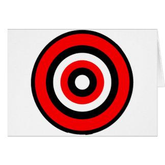 Carte Blanc noir rouge de boudine