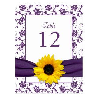 Carte blanche pourpre de Tableau de mariage Cartes Postales