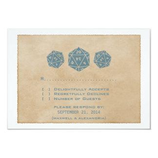 Carte bleue de réponse de Gamer de matrices de la Carton D'invitation 8,89 Cm X 12,70 Cm