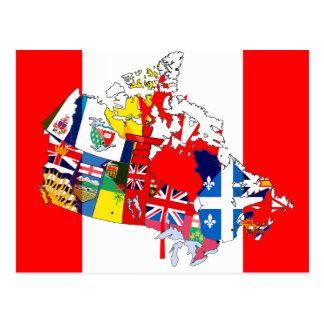 Drapeau Canadien Cartes postales