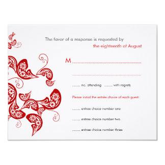 Carte Carte- de réponse l'épousant faite sur commande du