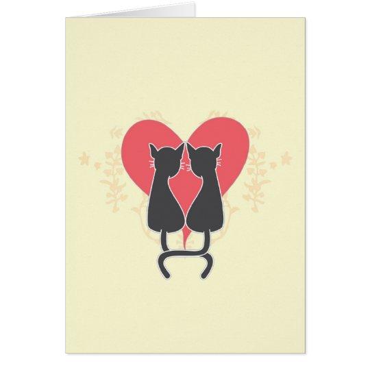Carte Chats d'amour