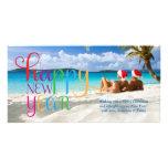 Carte colorée de la bonne année 311 cartes de vœux avec photo