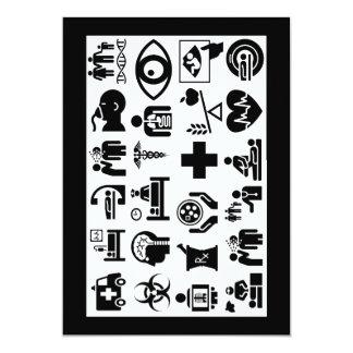 Carte Conception noire et blanche audacieuse d'icônes