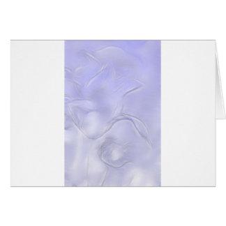 Carte Croquis de fleur de deux tulipes dans le bleu