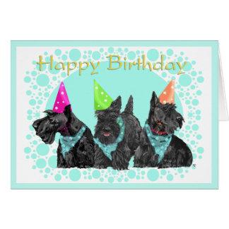 Carte d anniversaire de Terrier d écossais