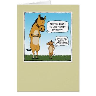 Carte d anniversaire drôle Petit cheval