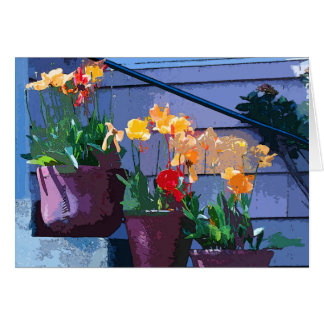 Carte d art de fleur de tulipe