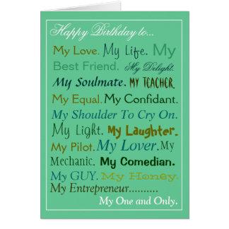 Carte d'amant de carte d'anniversaire de Mari-Fian