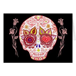 Carte d'amour de crâne de sucre de Valentines