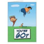 Carte d'anniversaire : 60 est un coup de pied deda