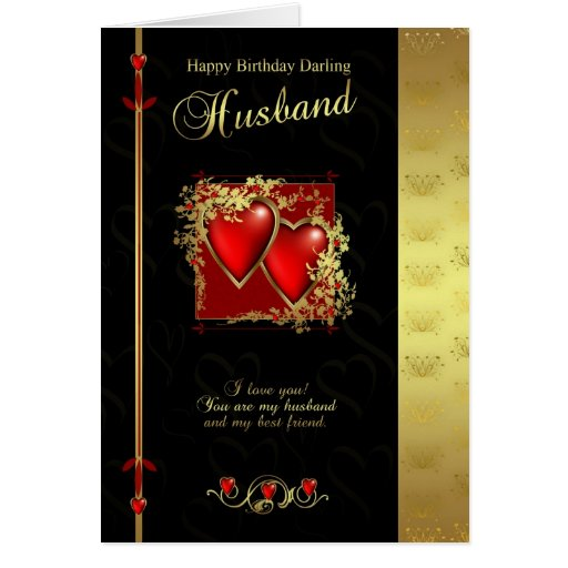 Carte d'anniversaire de mari - mari de joyeux anni