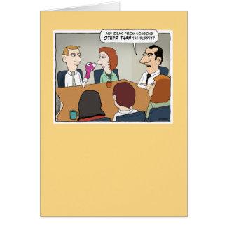 Carte d'anniversaire de réunion d'affaire louche
