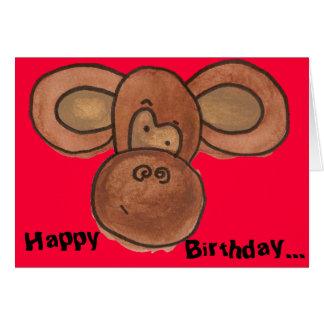 Carte d'anniversaire de singe