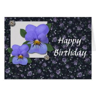 Carte d'anniversaire de violettes (gros