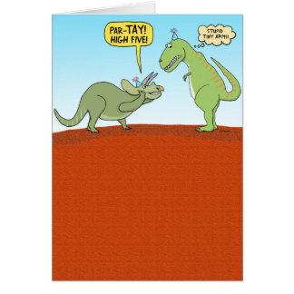Carte d'anniversaire drôle de dinosaure