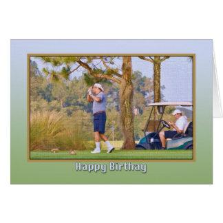 Carte d'anniversaire du golfeur