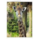 Carte d'anniversaire idiote de girafe (pour des en