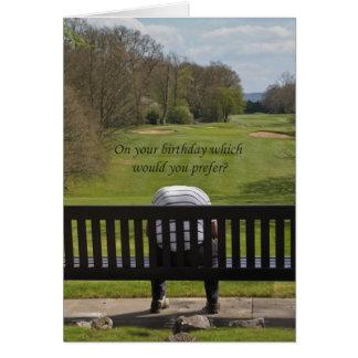 Carte d'anniversaire triste de golfeur