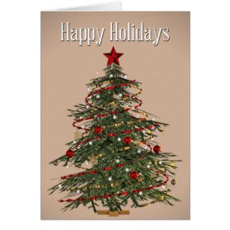 Carte d'arbre de Noël de sapin de Fraser