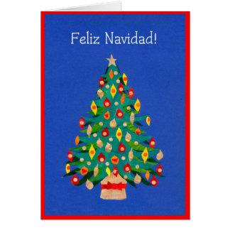 Carte d'arbre de Noël, espagnole