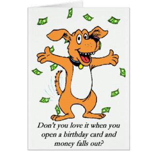 Carte d'argent d'anniversaire