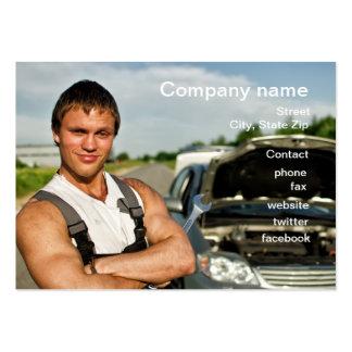 Carte d'atelier de réparations d'automobile carte de visite grand format