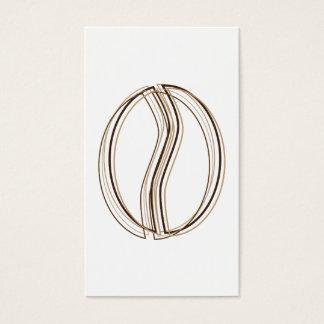 carte de bon de tache floue de grain de café