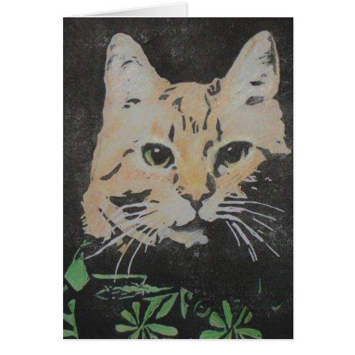 Carte de chat tigré d'Orangecatblues