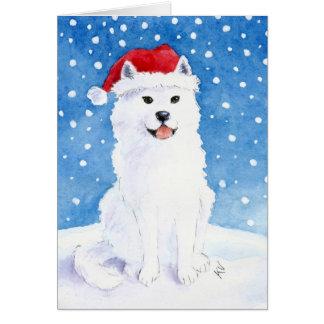Carte de chien de neige de Samoyed