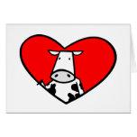 Carte de coeur de vache