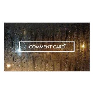 carte de commentaire de pluie d'automne cartes de visite professionnelles