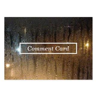 carte de commentaire de pluie d'automne carte de visite grand format
