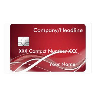 Carte de crédit carte de visite standard
