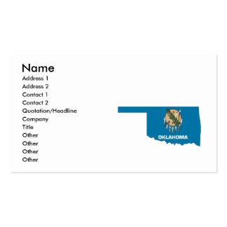 Carte de drapeau de l'Oklahoma Carte De Visite