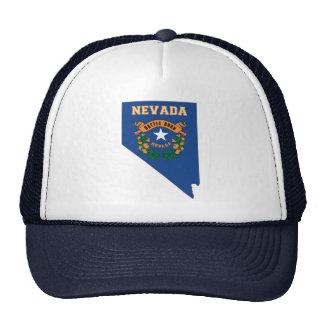 Carte de drapeau d'état du Nevada Casquettes
