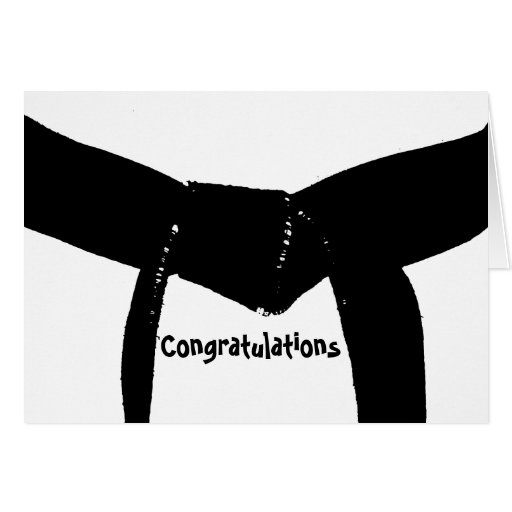 Carte de félicitations de ceinture noire d'arts ma