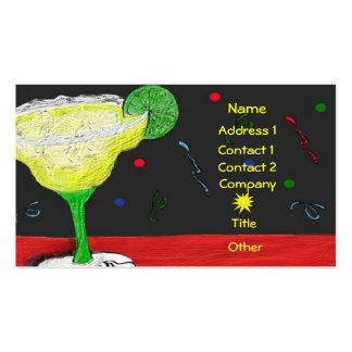 Carte de fête d'affaires/profil de margarita modèles de cartes de visite