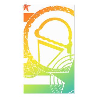 carte de fidélité de dripz de crème glacée carte de visite standard