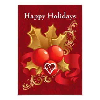 carte de fin de année de cardiologie de corps carton d'invitation  12,7 cm x 17,78 cm