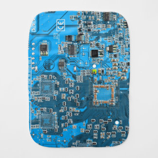 Carte de geek d'ordinateur - bleu linges de bébé