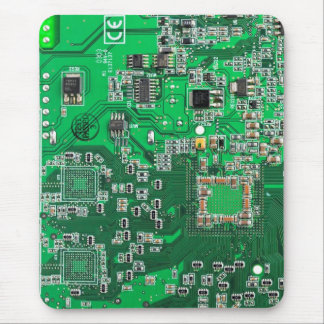 Carte de geek d'ordinateur - vert tapis de souris