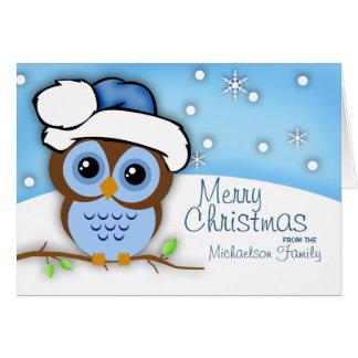 Carte de hibou de Noël