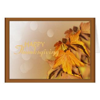 Carte de jour de thanksgiving