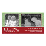 Carte de Joyeux Noël avec 2 photos