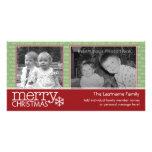 Carte de Joyeux Noël avec 2 photos Photocarte Personnalisée