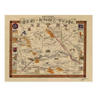 Carte de l histoire et Romance du Wyoming Cartes Postales
